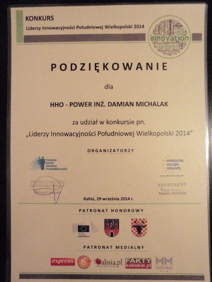 "HHO-Power ""Laureatem Konkursu"""