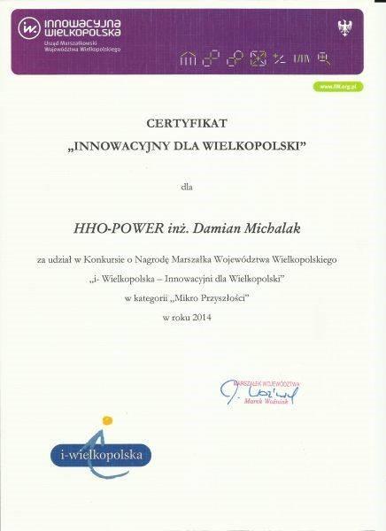 """HHO laureatem konkursu """"Innowacyjna firma"""""""